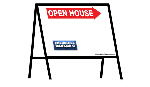 Coldwell Banker - A-Frame Open House Inserts (Sets of 2)