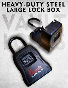 VaultLOCKS ® Lock Box, 4 Digits Combination