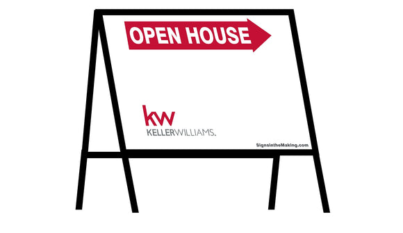 Keller Williams - A-Frame Open House Inserts (Sets of 2)