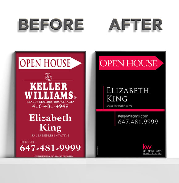Keller Williams - REFACE Sandwich Boards
