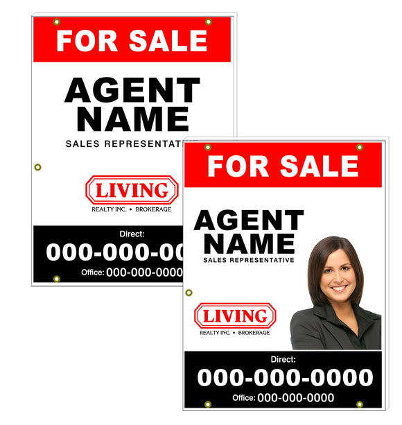 Living Realty - For Sale Signs