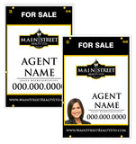Main Street - For Sale Signs