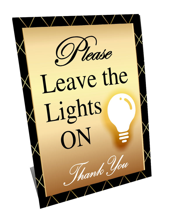 Please Leave Lights ON - GOLD