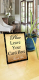 Please Leave Your Card GOLD