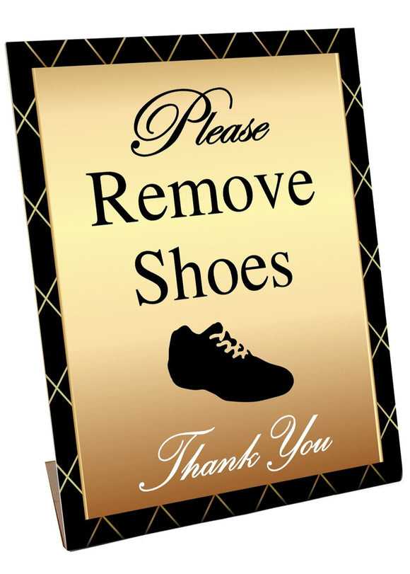 Standup - Please Remove Shoes GOLD