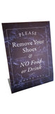 Standup - Please Remove Your Shoes & NO Food or Drink - Blue Marble