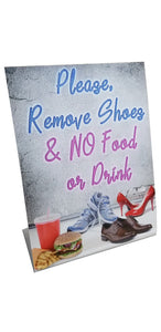 Standup - Please Remove Your Shoes & NO Food or Drink