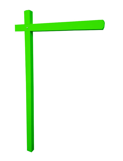 Aluminum Sign Post - Fluorescent Green