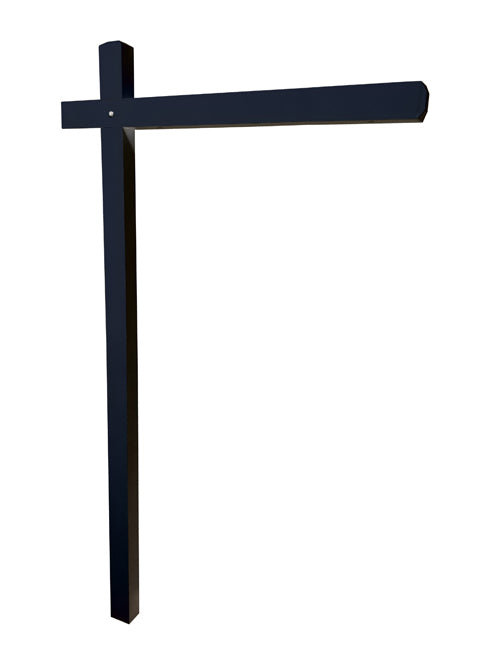 Aluminum Sign Post - Midnight Black