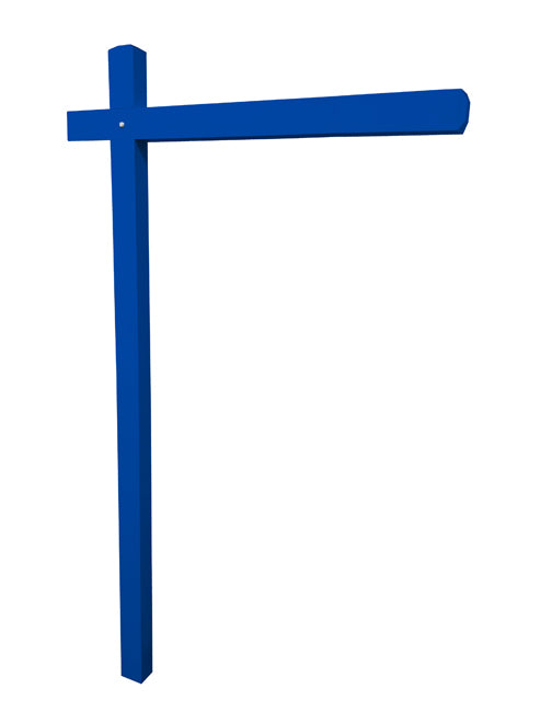 Aluminum Sign Post - Ocean Blue
