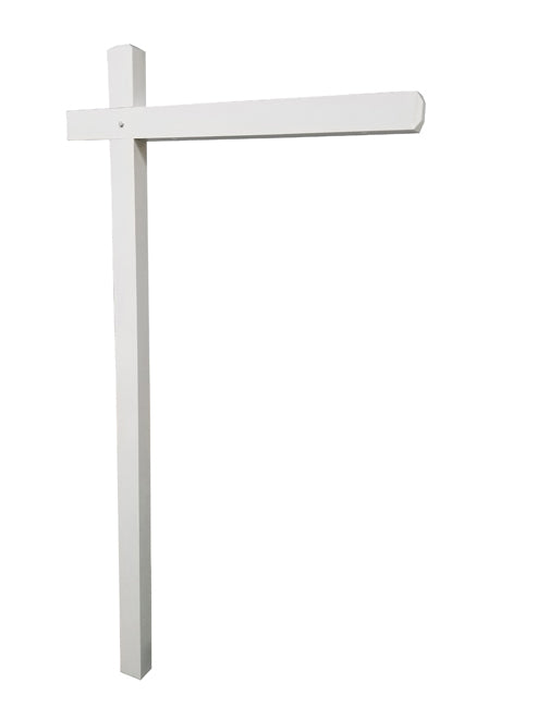 Aluminum Sign Post - White