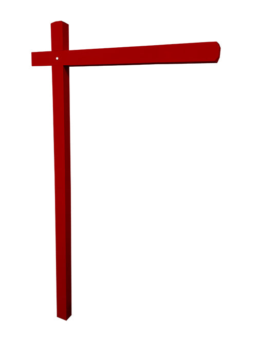 Aluminum Sign Post - Venetian Red