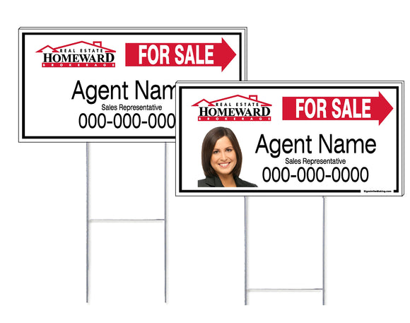 Real Estate Homeward - Directional Signs, Personalized