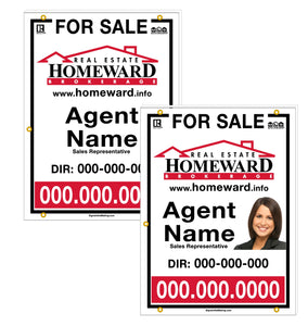 Real Estate Homeward - For Sale Signs