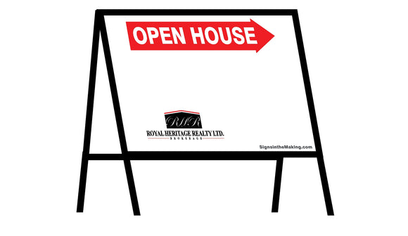 Royal Heritage Realty - A-Frame Open House Inserts