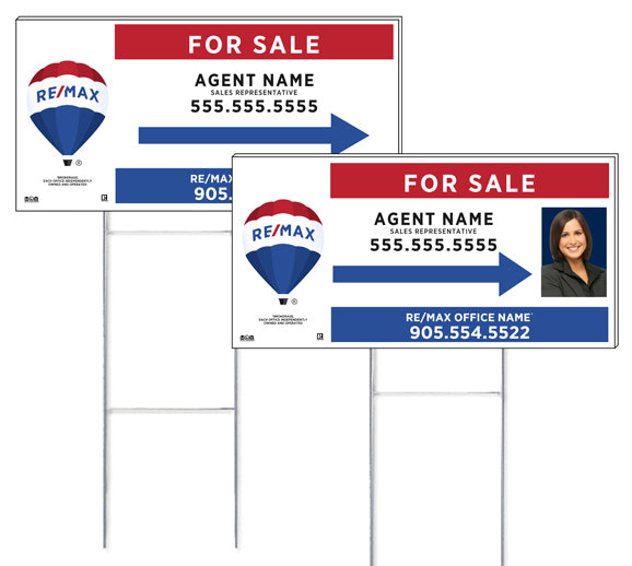 RE/MAX<sup>®</sup> - Directional Signs, Personalized