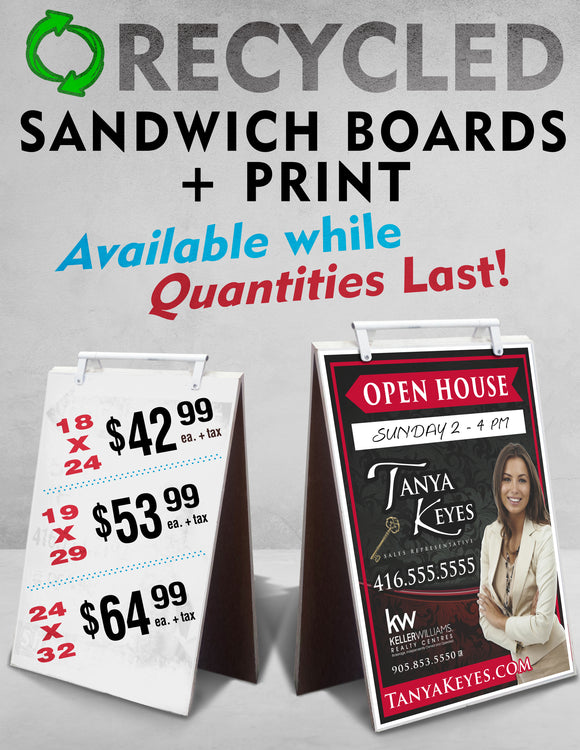 Recycled Sandwich Boards with Print
