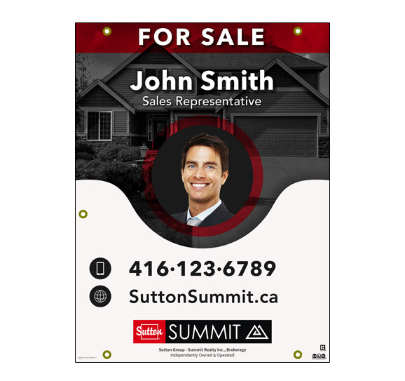 Sutton Summit - For Sale Sign - Style 4