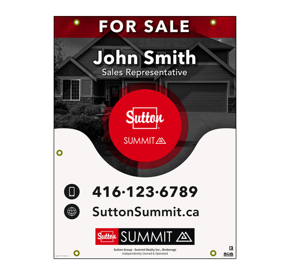 Sutton Summit - For Sale Sign - Style 5