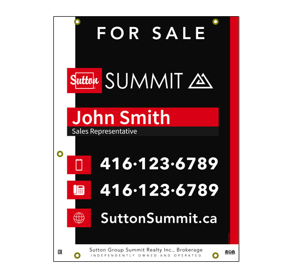 Sutton Summit - For Sale Sign - Style 6