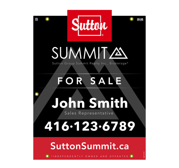 Sutton Summit - For Sale Sign - Style 7