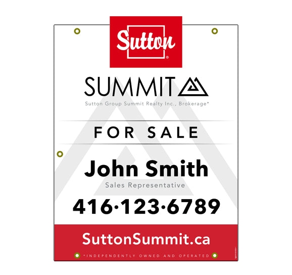 Sutton Summit - For Sale Sign - Style 8