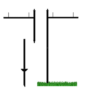 "26"" Arm Post & Base with pegs"