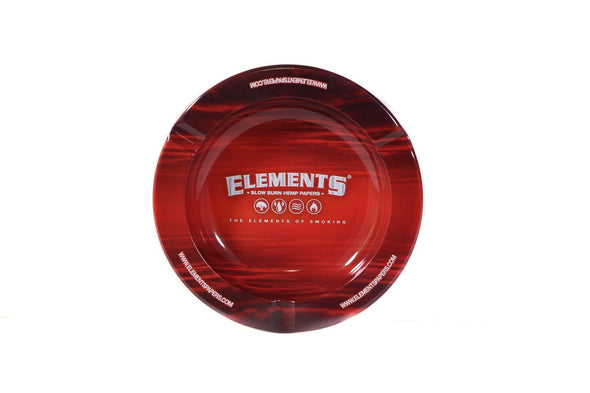 ASH1003: ELEMENTS, RED METAL ASHTRAY - Infyniti Scales