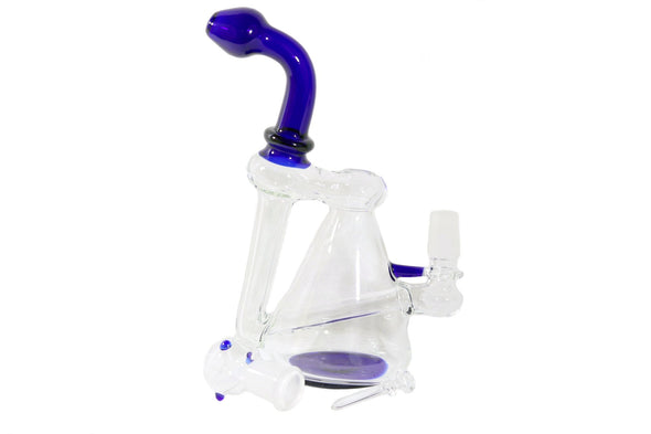 "GP1360AST: GLASS PIPE, 10"" RECYCLER OIL RIG, ASSORTED - Infyniti Scales"
