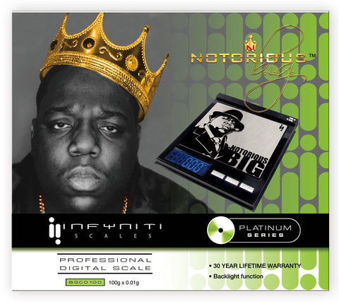 BGC0100: NOTORIOUS BIG CD SCALE, 100G X 0.01G