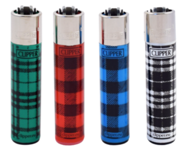 LT1001FBP: Clipper Lighter, Fabric Print