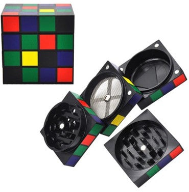 Color Cube Design Aluminum Grinder