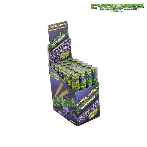 CP1182BLU: Cyclone Pre-Rolled Hemp Cones Blueberry - Infyniti Scales
