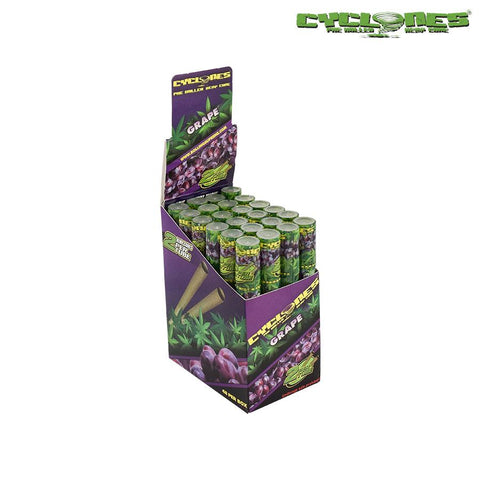 CP1182GRA: Cyclone Pre-Rolled Hemp Cones Grape - Infyniti Scales