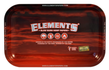 RT1036: Elements Rolling Tray: Red, Small - Infyniti Scales
