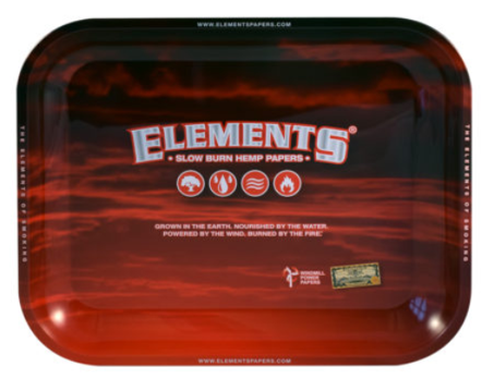 Red Elements Rolling Tray