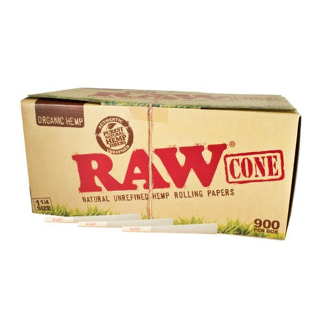 CP1235: RAW ORGANIC PRE-ROLLED CONES 1 1/4 - 900/PACK (83MM) - Infyniti Scales