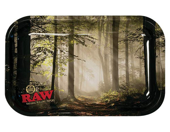 Raw Metal Rolling Trays- Smokey Trees Designs
