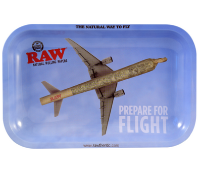 RT1018SM: RAW METAL ROLLING TRAY, FLYING HIGH, SMALL - Infyniti Scales