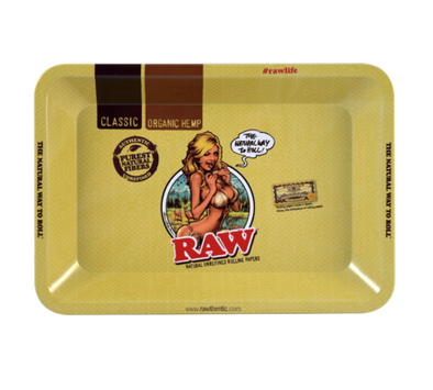 RT1006MI: RAW METAL ROLLING TRAY, BIKINI GIRL, MINI - Infyniti Scales