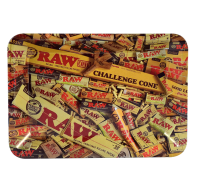 Raw Metal Rolling Tray - Mix Pack Design