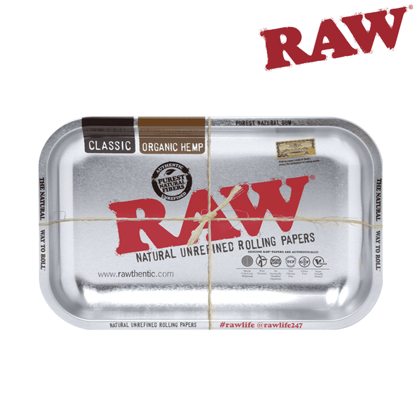Raw Metal Rolling Tray - Steel
