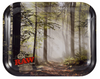 RT1031: RAW METAL ROLLING TRAY: SMOKEY TREES - Infyniti Scales