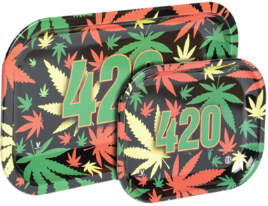 Metal Rolling Tray - 420 Multi leaf