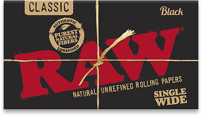 Raw Classic Black Cigarette Papers - Infyniti Scales