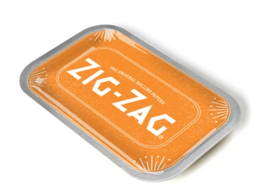 Zig Zag Rolling Tray- Orange