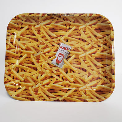 Raw French Fry Metal Rolling Tray