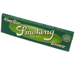 Smoking Green Cigarette Papers - Infyniti Scales