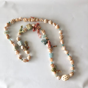 Long Cut Shell Necklace
