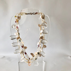 Rock Crystal and Citrine Necklace